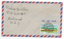 1970 ST LUCIA Air Mail Cover GPO CASTRIES to MONTSERRAT Aviation