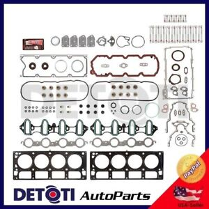 Full Head Gasket Set Bolts For 02-03 GMC Chevy Buick Isuzu 5.3L V8 Multi Layer