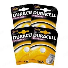 4 BATTERIE CR2025 / DL2025 DURACELL 3V LITIO DLC 2024