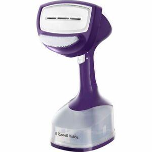 Russell Hobbs 25600 240V Steam Genie Garment Steamer - White and Purple
