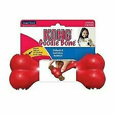 KONG Classic Goodie Bone Dog Treat Dispenser Tough Rubber Chew Toy or Treats MED