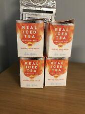 Lipton Real Iced Tea Black Tea Peach Apricot 60 Bags Total 4 X 15 Boxes