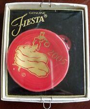HOMER LAUGHLIN CHINA CO. Fiesta USA 2005 Scarlet Holiday Ornaments NWT $20