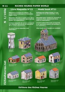 Livre maquette N n°11 - Bâtiments et maisons de villages