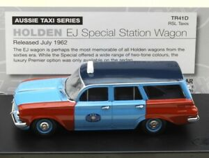 1:43 scale TRAX diecast: 1962 Holden EJ Special Wagon in RSL Taxi Livery  TR41D