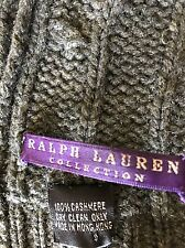 100% CASHMERE RALPH LAUREN PURPLE LABEL Unisex EXTRA LONG CABLE KNIT SHAWL SCARF