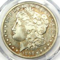 1893-S Morgan Silver Dollar $1 - Certified PCGS Fine Details - Rare Key Coin!