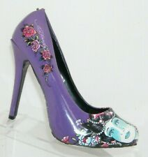 Ed Hardy 'Sunset' purple floral man made round toe slip on pump heels 7M