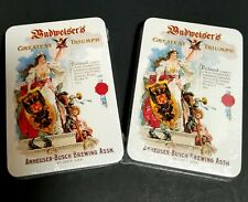 Budweiser Anheuser-Busch Brewing Association Playing Cards Lot Of 2 New, Sealed!