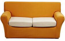 Copridivano 2 posti x divano millerighe copri divano ottoman tinta unita giallo