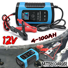 Pulse Repair Battery Charger for Car Motorcycle AGM GEL WET Lead Acid LCD 12V 6A