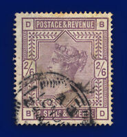 1884 SG178 2s6d Lilac K10(1) BD London Good Used Cat £160 csrx
