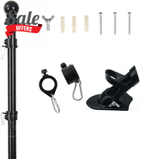 Flag Poles with Flag Pole Bracket For House Yard Suitable For 3x5 and 4x6 Flags