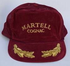 MARTELL COGNAC Trucker Baseball Cap Hat Gold Leaves One Size Flat Bill Red