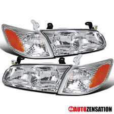 For 2000-2001 Toyota Camry Pair Clear Lens Headlights w/ Corner Lamps Left+Right