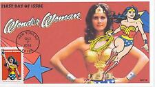 JVC CACHETS -2016 WONDER WOMAN COVER #3 FIRST DAY COVERS FDC SUPER HERO COMICS