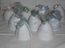 9 Lladro Annual Bell Ornaments Lot - 1987 88 90 2001 04 06 07 10 11
