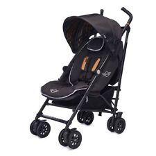 Poussettes et systèmes combinés de promenade noirs avec harnais à cinq points pour bébé dès la naissance