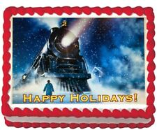 Polar Express Party Icing Edible Cake Topper Image Frosting sheet Decoration