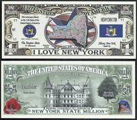 Lot of 100 Bills- ILLINOIS STATE MILLION DOLLAR BILL w MAP CAPITOL FLAG SEAL