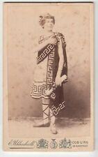 Coburg,Junger Mann in Römer o.Griechen Antiken Tracht pretty male CDV ~1880 Gay