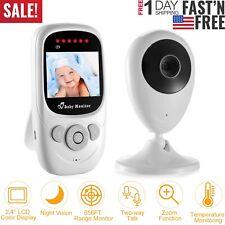 "��2-Way Talk 2.4"" Digital Wireless Baby Monitor Night Vision Video Audio Camera"