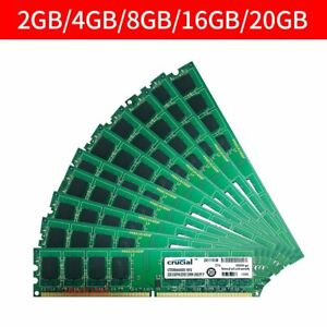 For Crucial 20GB 16GB 8GB 4GB 2GB PC2-6400U DDR2 800MHz Desktop Memory LOT 777