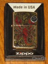 Zippo Lighter Scorpion Shell High Polish Brass 29096
