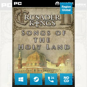 Crusader Kings II 2 Songs of the Holy Land DLC for PC Game Steam Key Region Free