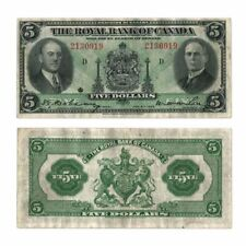 The Royal Bank of Canada $5 $5 1935 M.W. Wilson/H. Hoyt Pick S1391 Very Fine