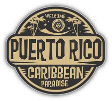 "Puerto Rico Caribbean Paradise Car Bumper Sticker Decal 5"" x 5"""