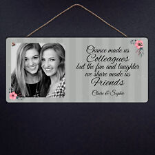 Personalised Colleague Plaque - Friends Laughter Metal Hanging Sign Gift Custom