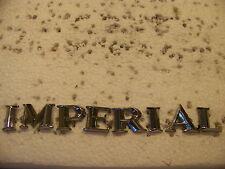 1964 65 66 CHRYSLER IMPERIAL TRUNK EMBLEMS