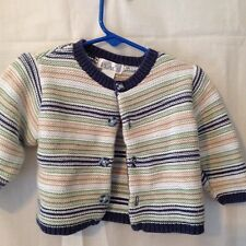 The Children's Place  girls sweater 6-9 mo 100% cotton multi color long sleeve