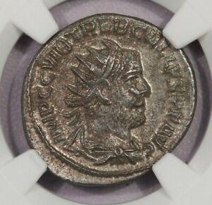 251-253 AD Roman Empire Treb. Gallus AR Double-Denarius NGC Ch XF B-9