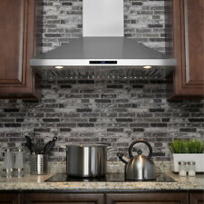 More details for island mount range hood stainless steel kitchen vent canopy baffle grease filter