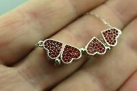 Turkish Handmade Jewelry 925 Sterling Silver Ruby Stone Women Necklace
