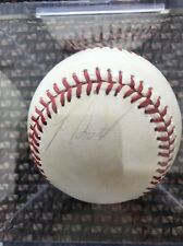 Lee Smith Signed Autograph Baseball In Square Ball Holder Apr 1989 Boston