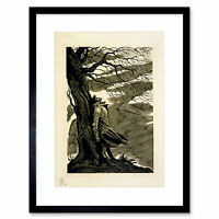 Heathcliff Wuthering Heights Bronte Bw Framed Art Print Picture Mount 12x16 Inch