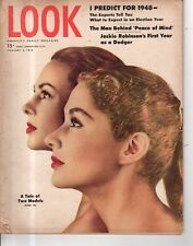 1948 LOOK January 6 - Jackie Robinson; Doris Day; Joliet Prison; Burlington VT