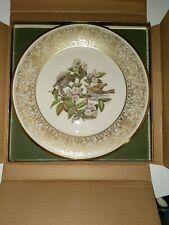 Lenox Wood Thrush Round Collector Plate Boehm. Birds. Used original box