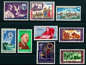 BURKINA FASO UPPER VOLTA F-VF MINT NH Lot -Nice Stamps- FDR, Nursing, Boy Scouts