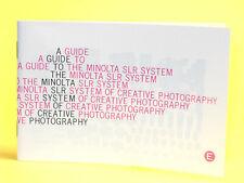 Original(!) Minolta GUIDE TO THE MINOLTA SLR SYSTEM OF CREATIVE PHOTOGRAPHY...