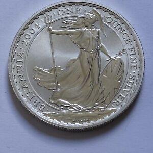Silver £2 Britannia 2004 1oz Coin in Capsule