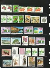 REPUBLIC OF CHINA TAIWAN STAMPS COLLECTION MIXTURE WITH FLAW ALBUM PAGE LOT 96