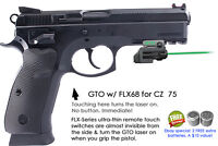 ArmaLaser GTO for CZ  75 with Rail - GREEN Laser Sight w/FLX68 Grip Touch