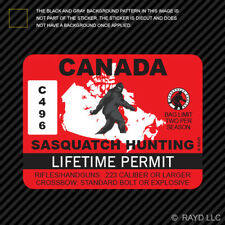 Canada Sasquatch Hunting Permit Sticker Die Cut Decal Bigfoot 13igfo0T Canadian