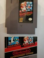 Nintendo NES 8 bit super mario bros 1985 classic cartridge w duck hunt manual