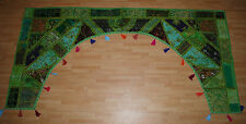 New Large Arch Patchwork Sequin Toran Wall Hanging - Hippy Fairly Traded India
