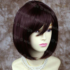Wiwigs Stunning Short Dark Auburn Bob Skin Top Ladies Wig